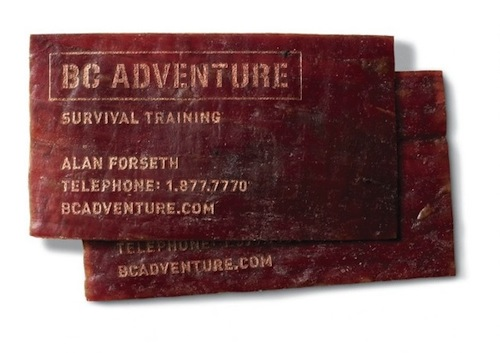 3. BC Adventure Meat Card by Rethink Canada