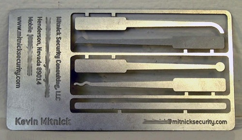 4. Kevin Mitnick's Lock Pick Card