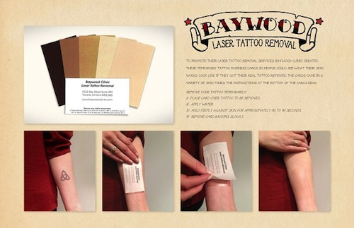 12 creative business cards that double as cool gadgets for Tattoo removal business
