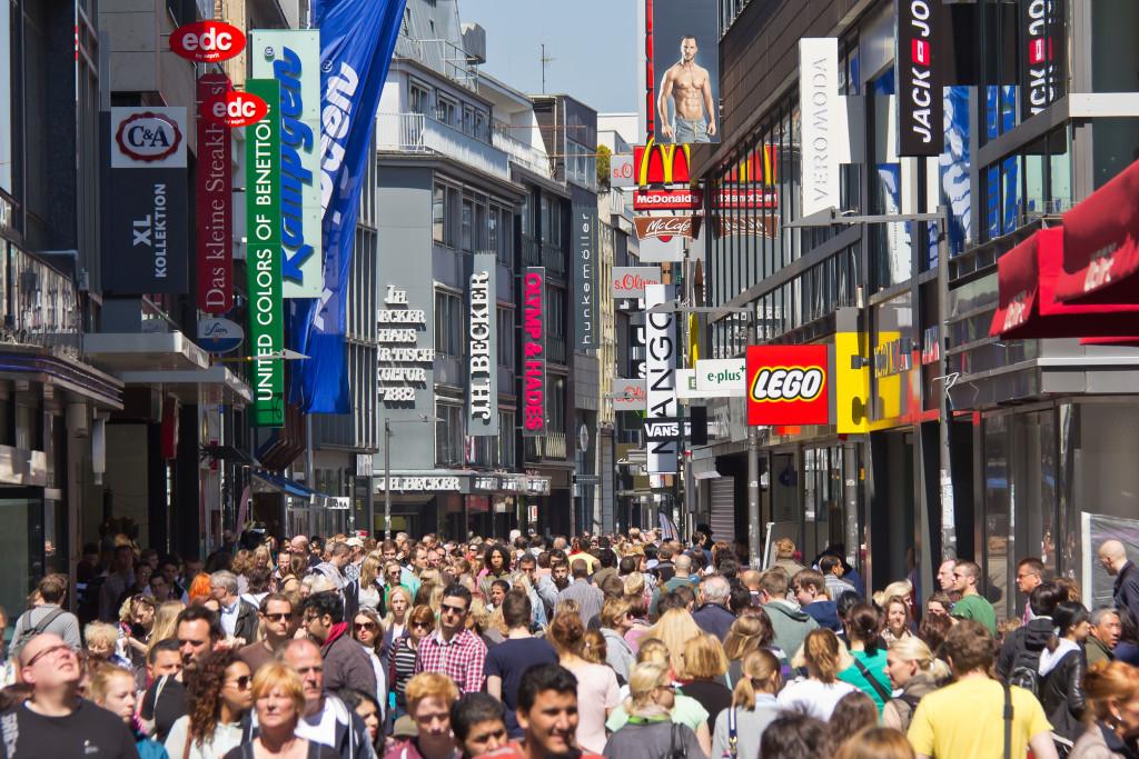 Fußgängerzone Hohe Straße Köln